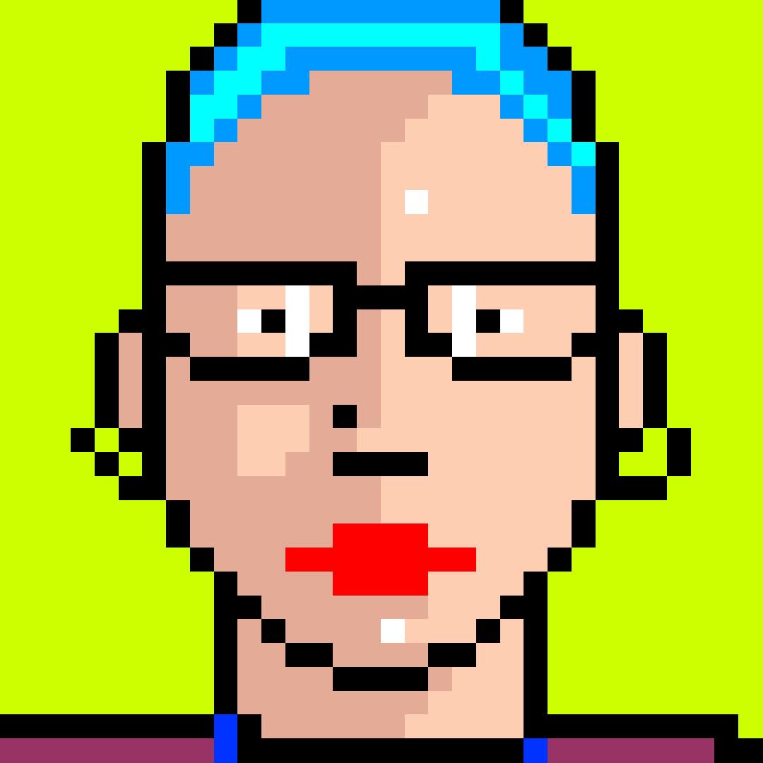 Pixel art portrait