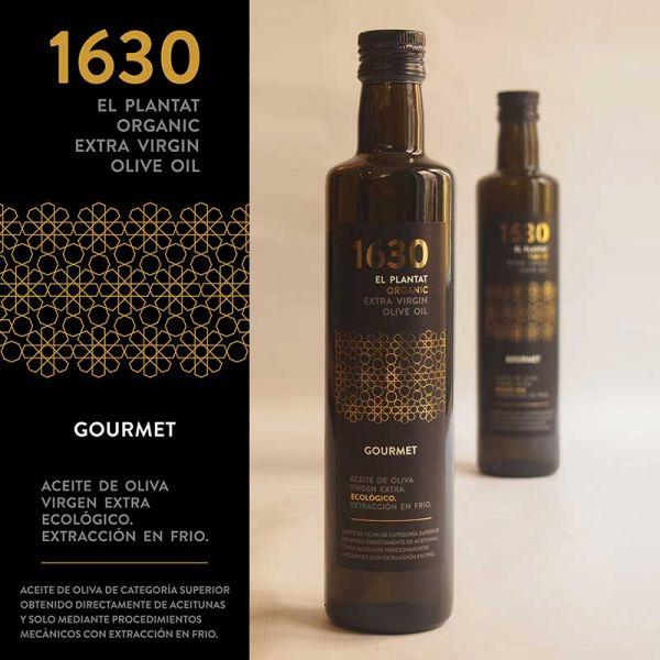 Aceite 1630. logotipo y etiqueta