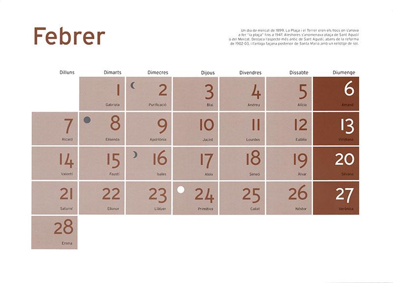 Calendario febrero de Tivoli