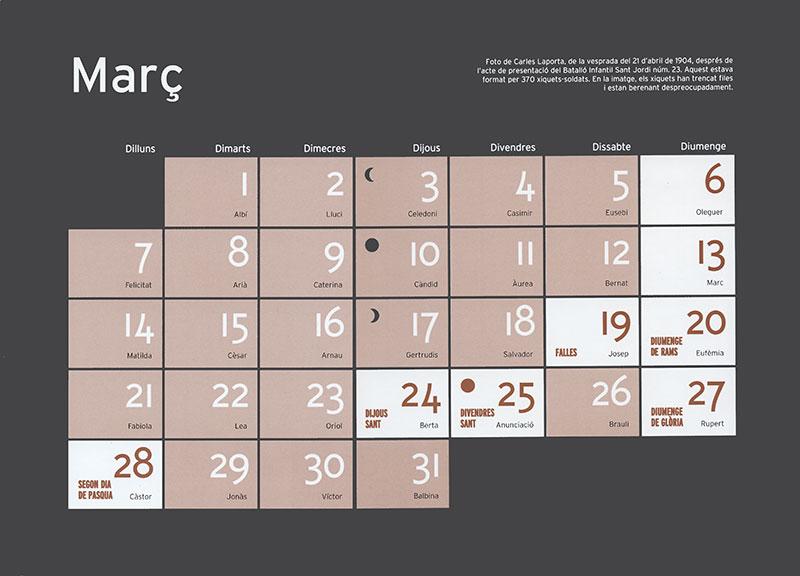 Calendario marzo de Tivoli