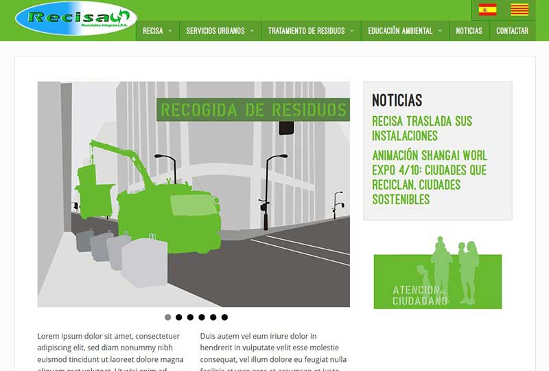 Recisa website home page