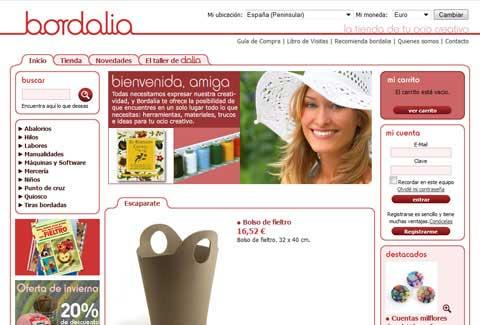 Bordalia online shop home page