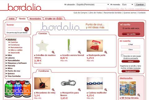 Bordalia online shop category page