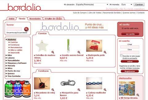 Página de la categoría de Bordalia tienda online