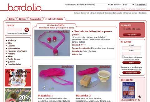 Página de arte de Bordalia tienda online