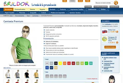 Brildor online shop. Product page