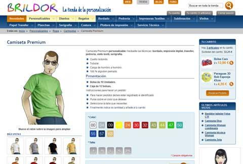 Tienda online Brildor. Página del producto