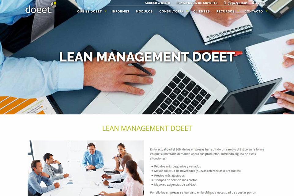 Página del sitio web doeet